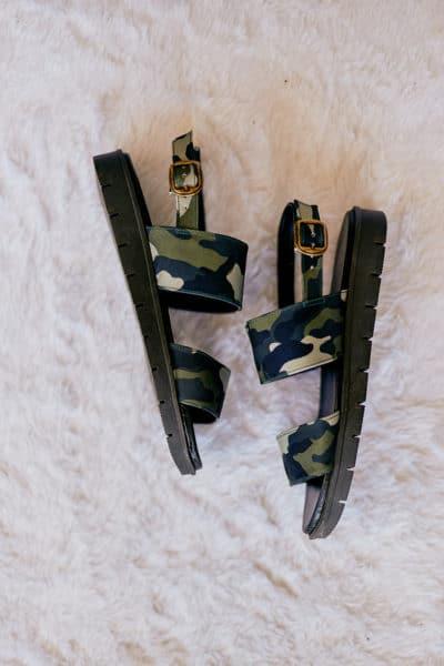 Sandália de Tiras Militar
