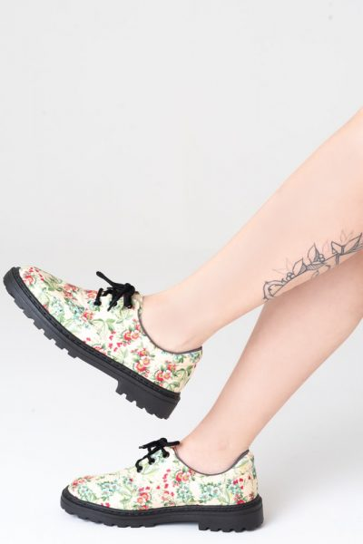 Sapato Tratorado Unissex Floral Liberty