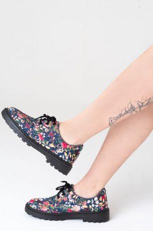 Sapato Tratorado Unissex Floral Vo