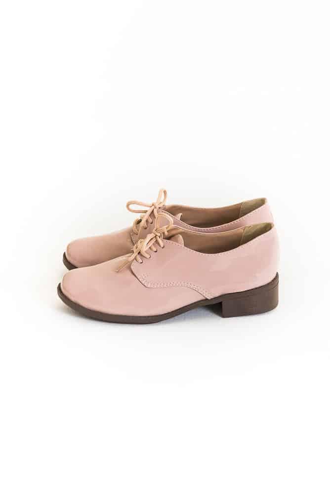 Sapato Oxford Verniz Rosa 2