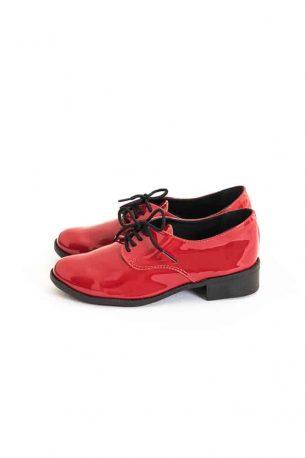 Sapato Oxford Verniz Vermelho