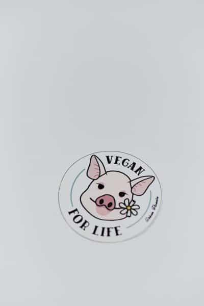 "Adesivo ""Vegan for Life"""