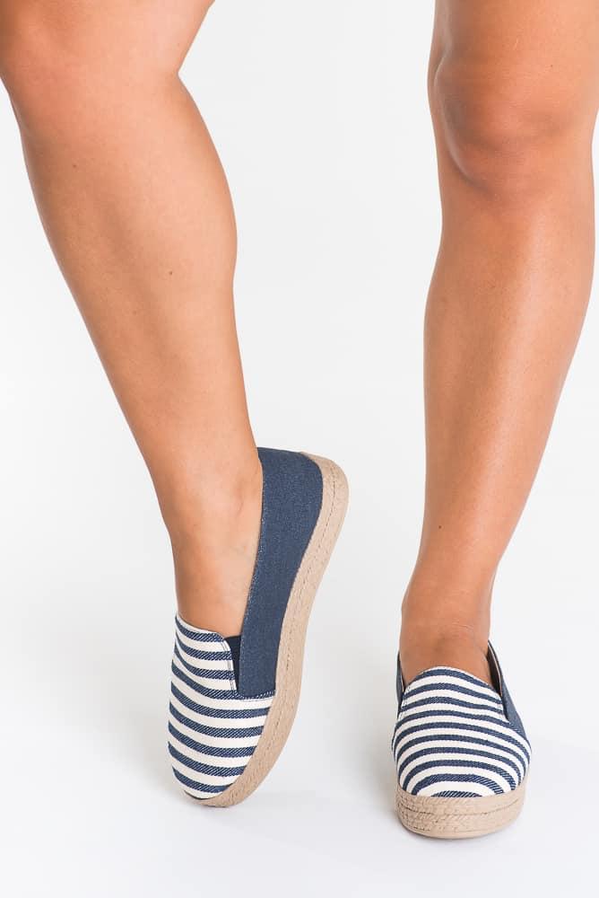 Alpargata Plataforma Jeans Listrado 1
