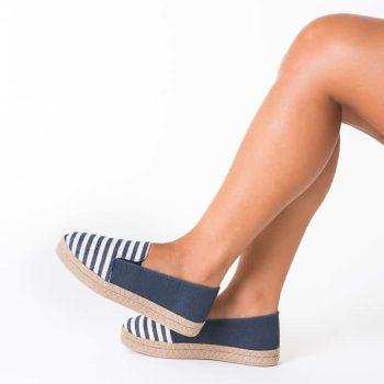 Alpargata Plataforma Jeans Listrado