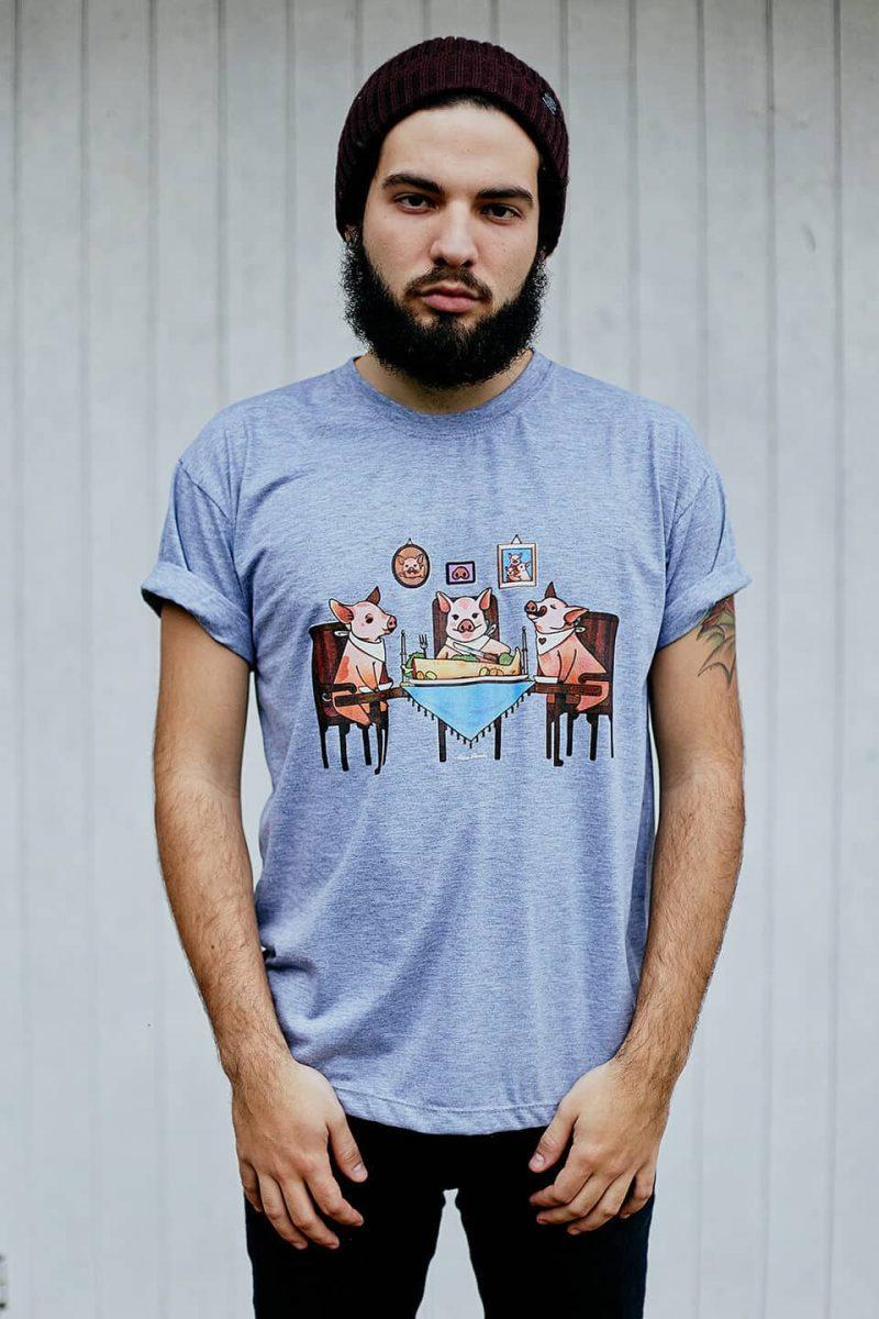 Camiseta ''Família Tradicional'' Cinza 1