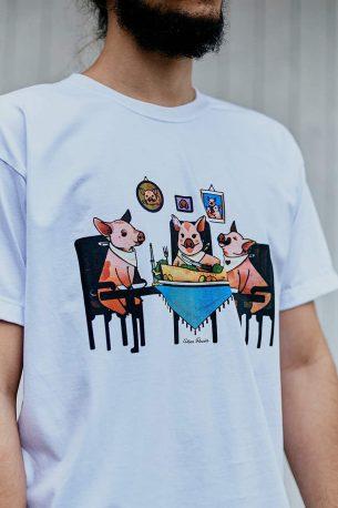 "Camiseta ""Família Tradicional"" Branca"