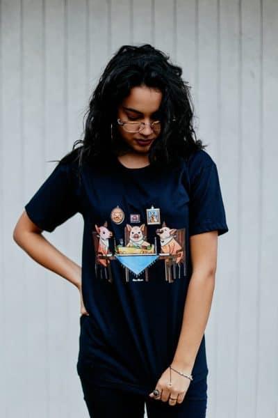 "Camiseta ""Família Tradicional"" Preta"
