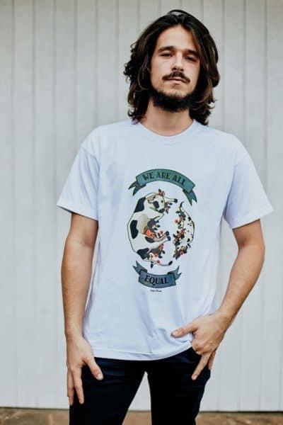 """Camiseta """"Equal"""" Branca"""