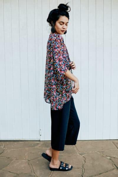 Kimono Curto Floral Liberty