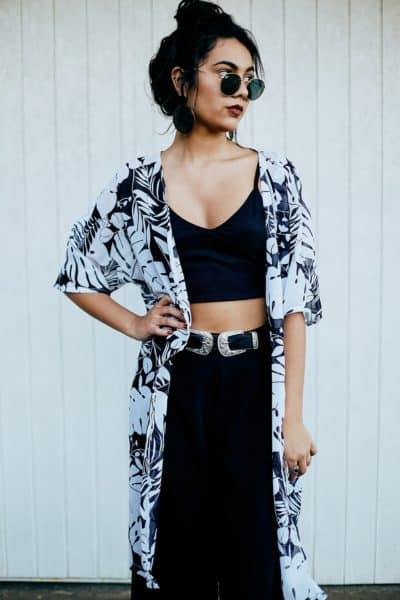 Kimono Longo Tropical