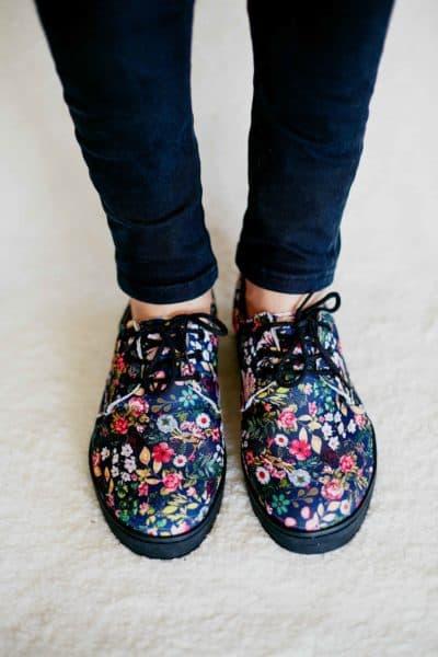 Sapato Casual Floral Vo
