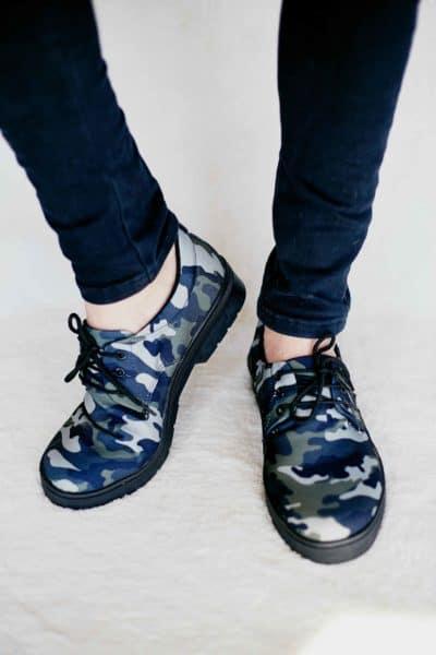 Sapato Casual Estampa Militar