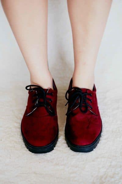 Sapato Casual Camurça Sintética Vinho