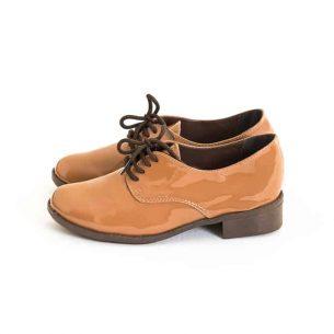 Sapato Oxford Verniz Marrom