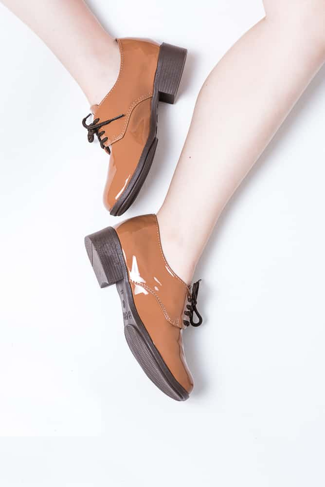 Sapato Oxford Verniz Marrom (bazar) 2
