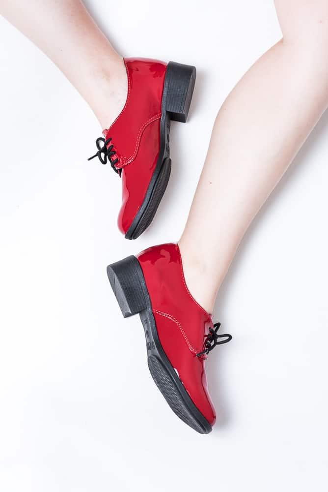 Sapato Oxford Verniz Vermelho 3
