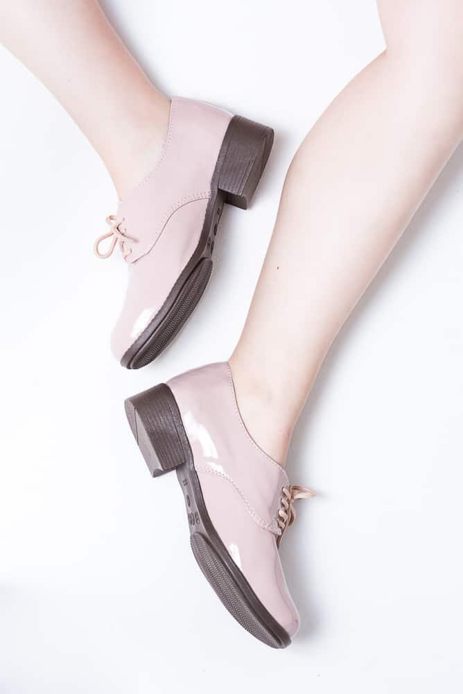Sapato Oxford Verniz Rosa 3