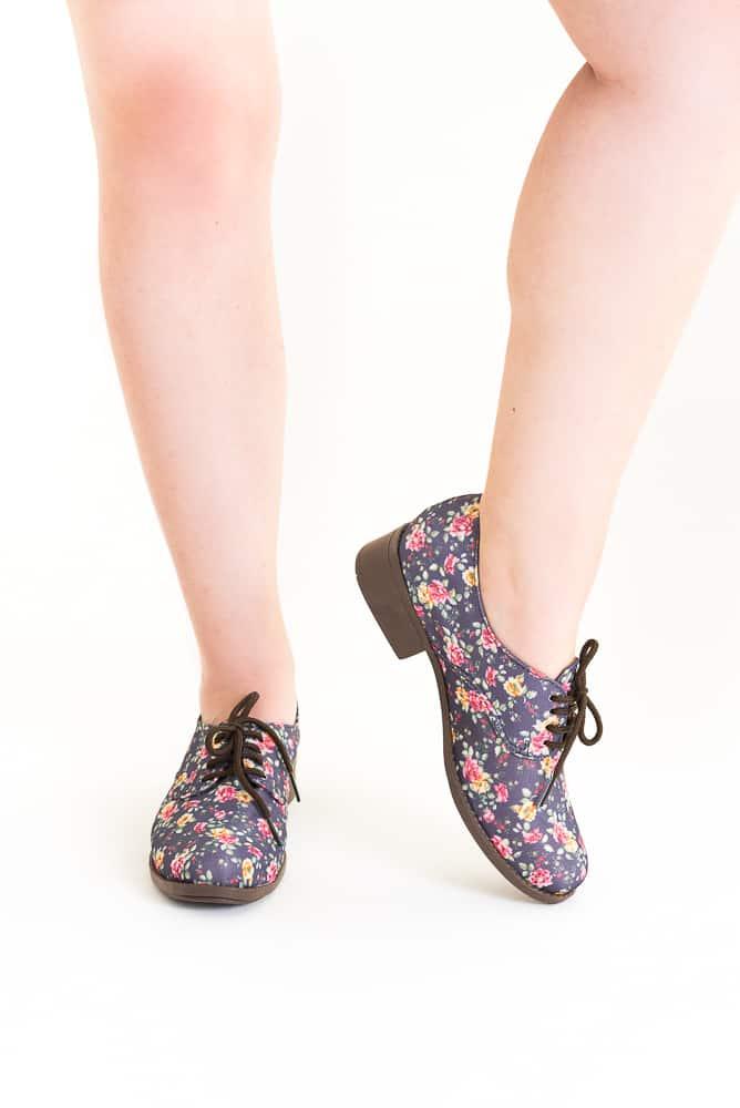Sapato Oxford Floral Liberty 3