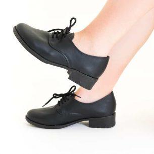 Sapato Oxford Sintético Preto