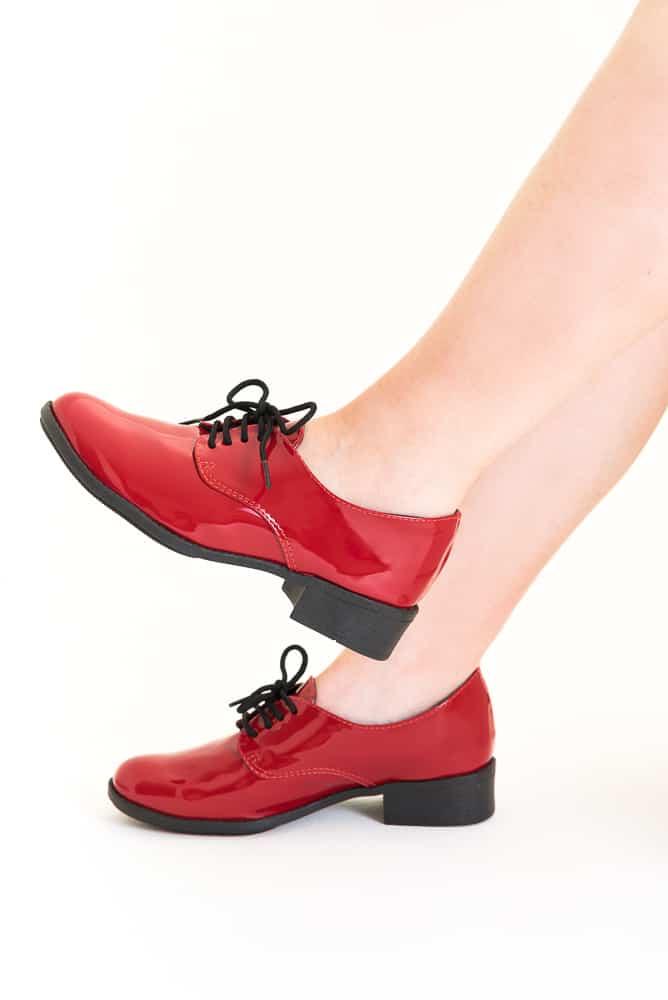 Sapato Oxford Verniz Vermelho 1