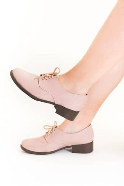 Sapato Oxford Verniz Rosa