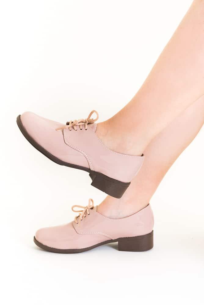 Sapato Oxford Verniz Rosa 1