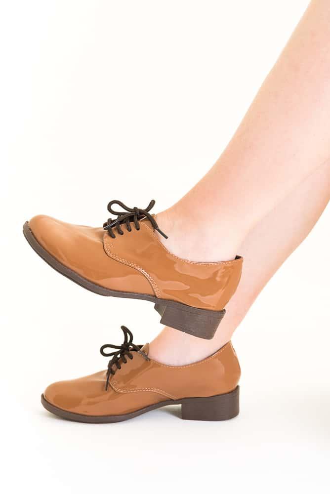 Sapato Oxford Verniz Marrom (bazar) 1