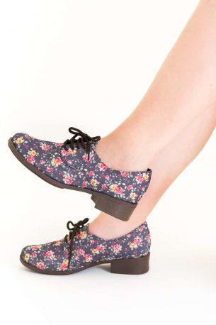 Sapato Oxford Floral Liberty