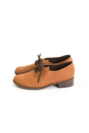 Sapato Oxford Sintético Marrom