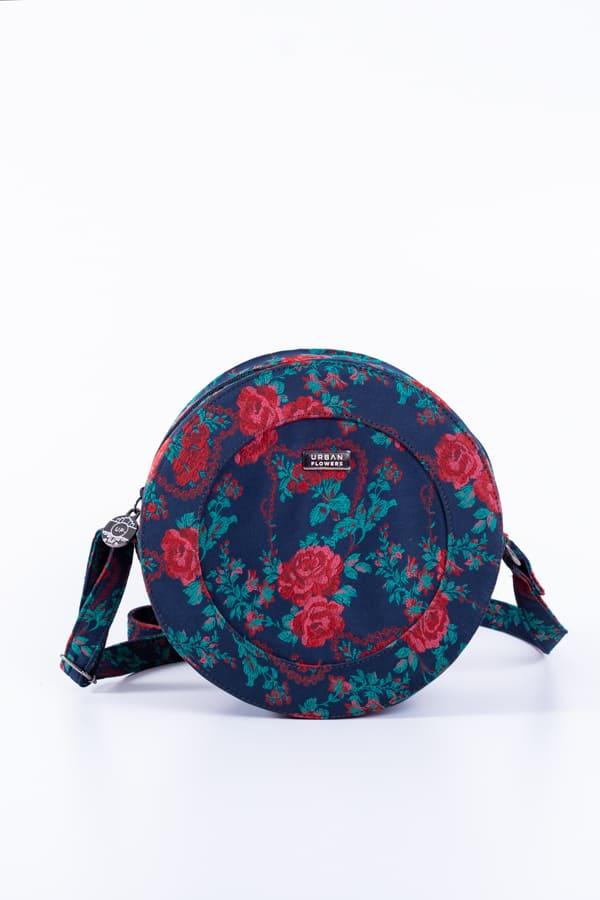 Bolsa Cantil Azul Floral 3