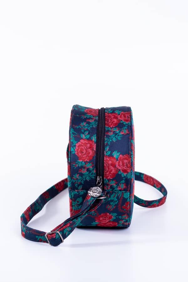 Bolsa Cantil Azul Floral 2