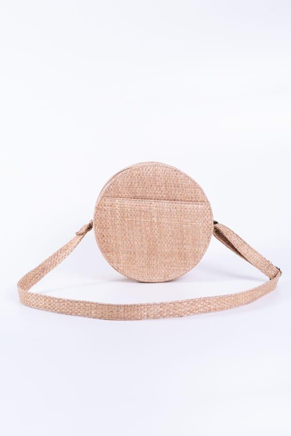 bolsa de palha redonda