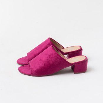 Tamanco Veludo Rosa Schiap (bazar)