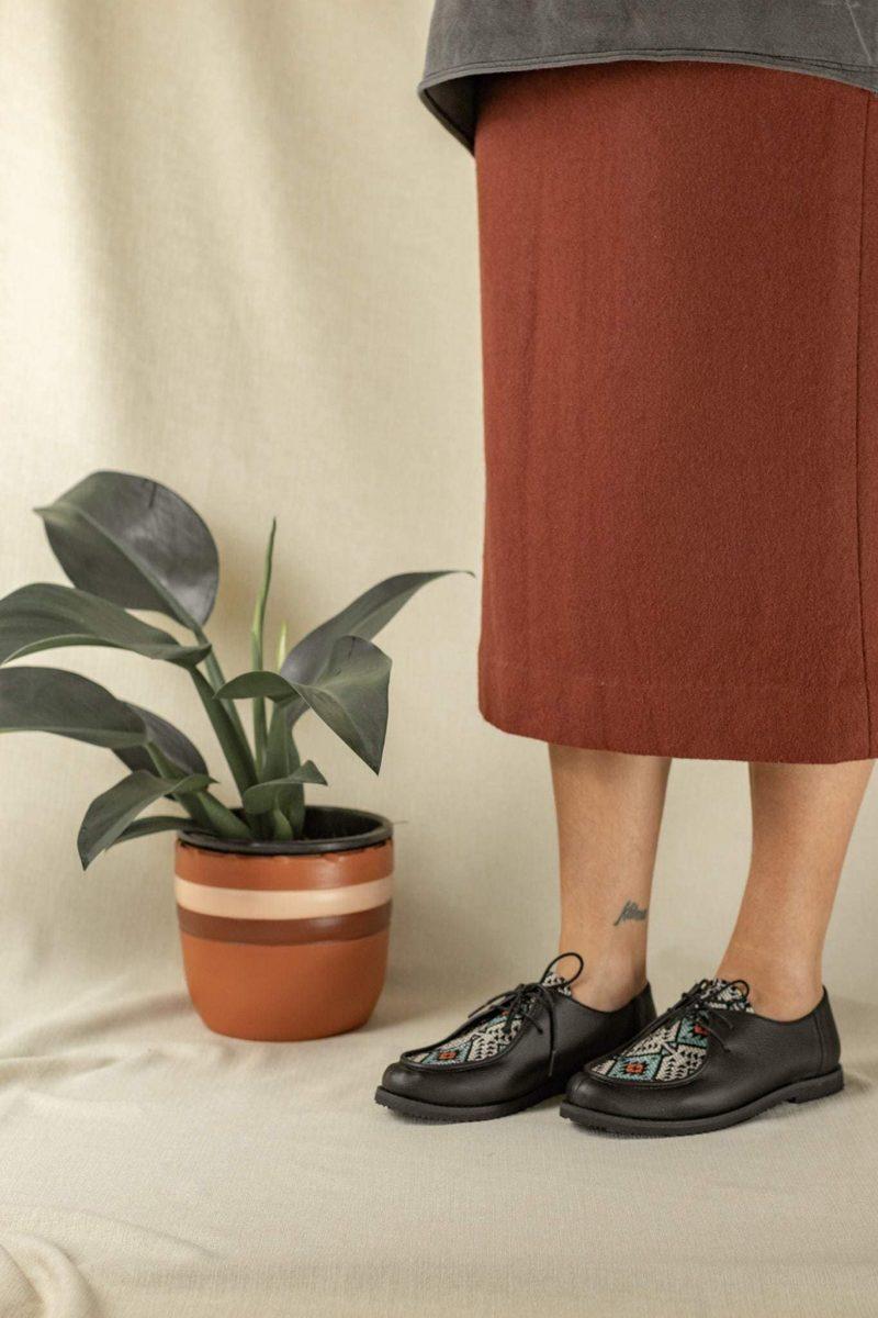 Sapato Yule Étnico Preto 2