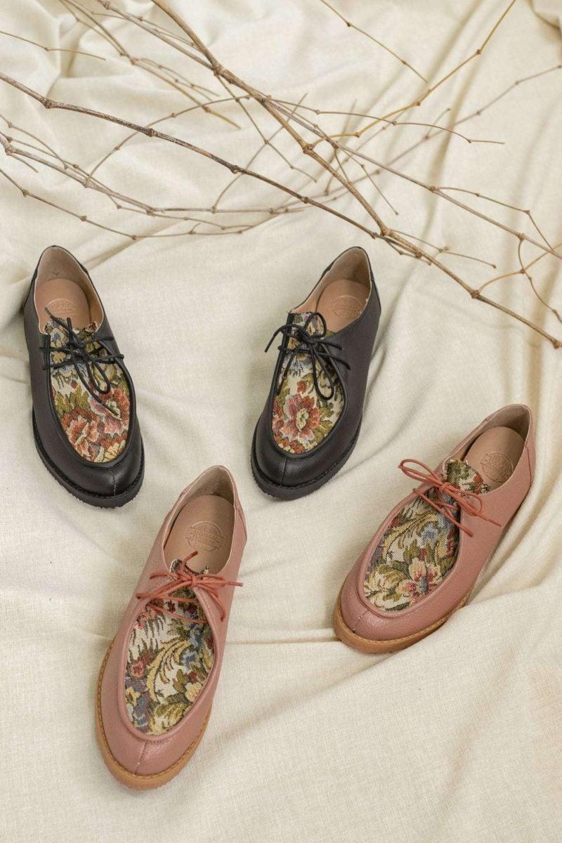 Sapato Yule Preto Floral 1