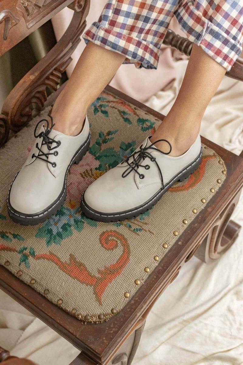 Sapato Tratorado Terra Off White 1