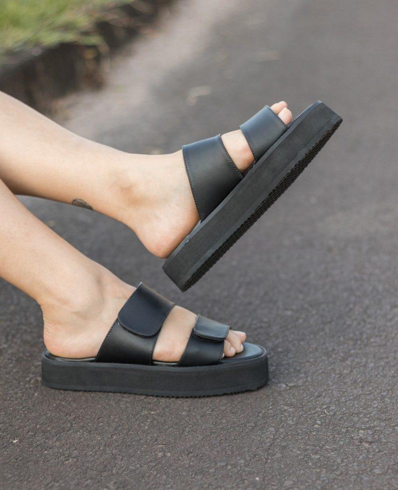 Sandália Plataforma Aurora Preta 1