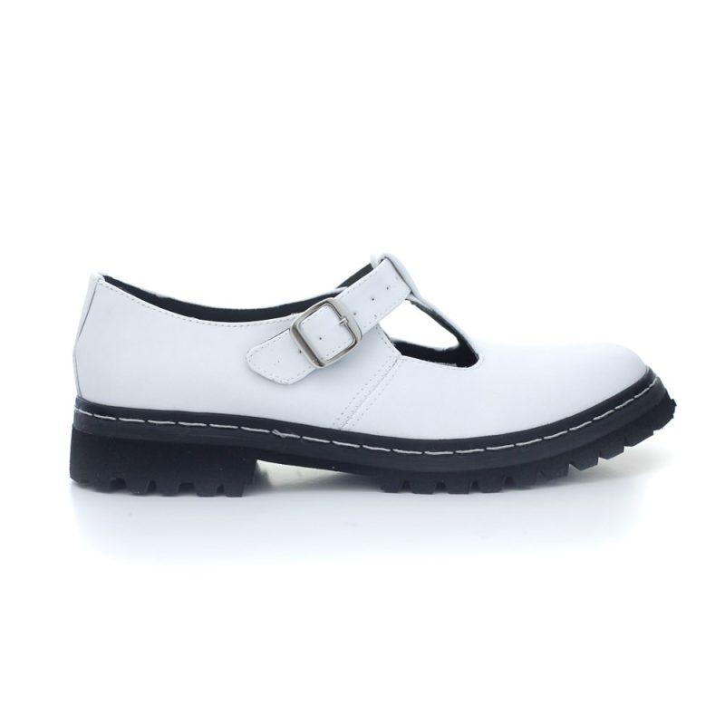 Sapato Tratorado Teodora Branco 1