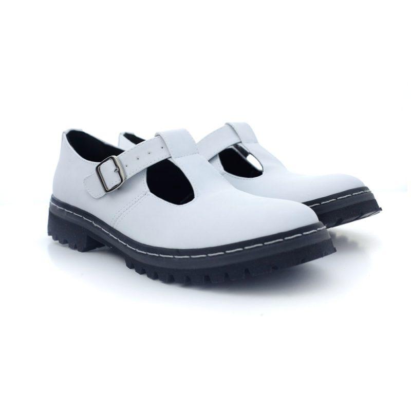Sapato Tratorado Teodora Branco 2
