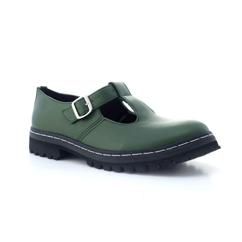 Sapato Tratorado Teodora Verde Musgo (Amostra) 6