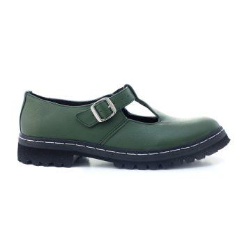 Sapato Tratorado Teodora Verde Musgo