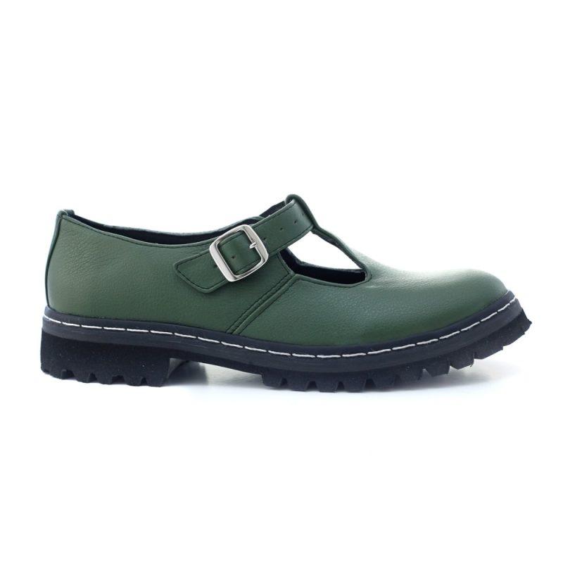 Sapato Tratorado Teodora Verde Musgo (Amostra) 1