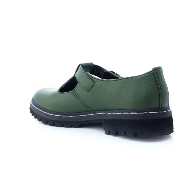 Sapato Tratorado Teodora Verde Musgo (Amostra) 4