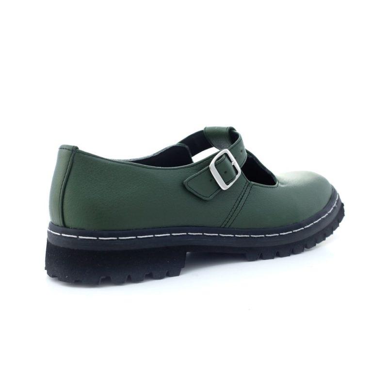 Sapato Tratorado Teodora Verde Musgo (Amostra) 5