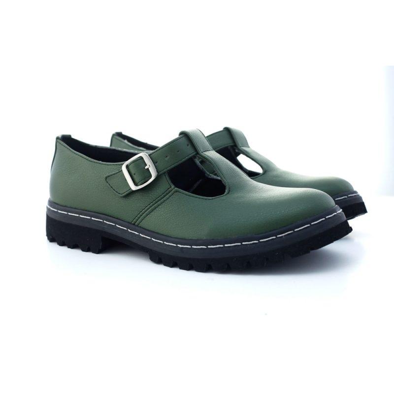 Sapato Tratorado Teodora Verde Musgo (Amostra) 3