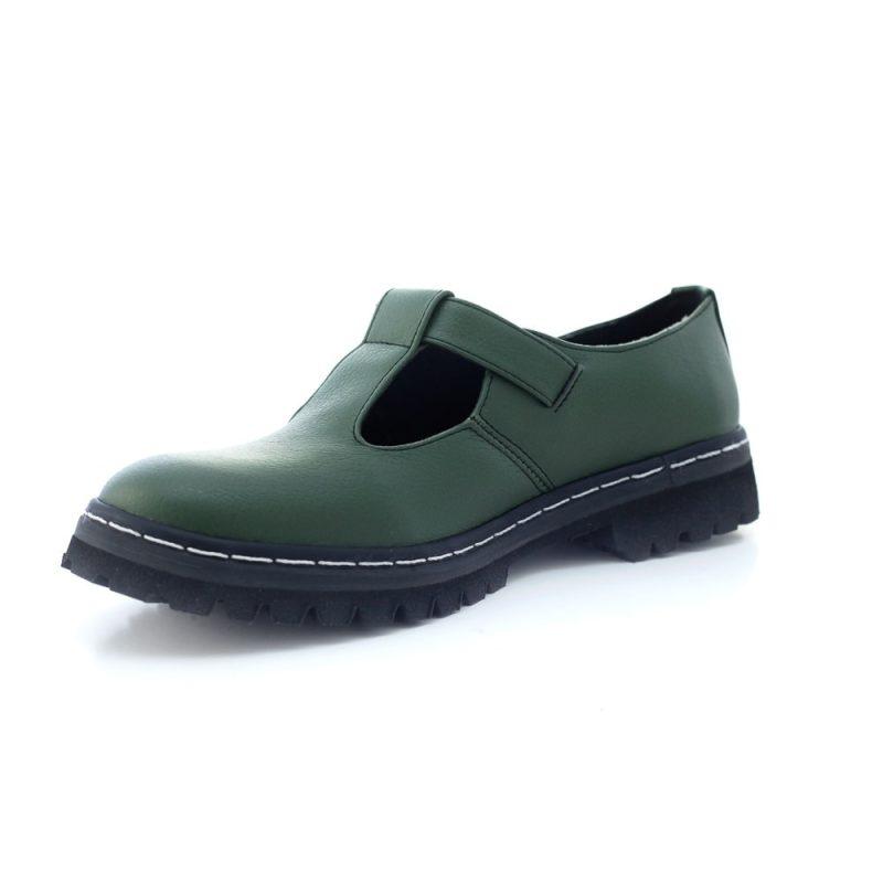 Sapato Tratorado Teodora Verde Musgo (Amostra) 7