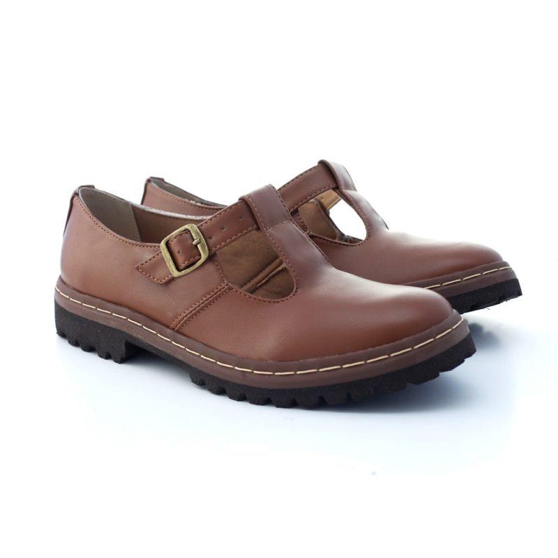 Sapato Tratorado Teodora Conhaque (bazar) 2