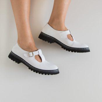 Sapato Tratorado Teodora Branco