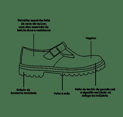 Sapato Tratorado Teodora Lilium (bazar) 8