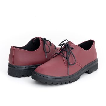 Sapato Tratorado Terra Vinho